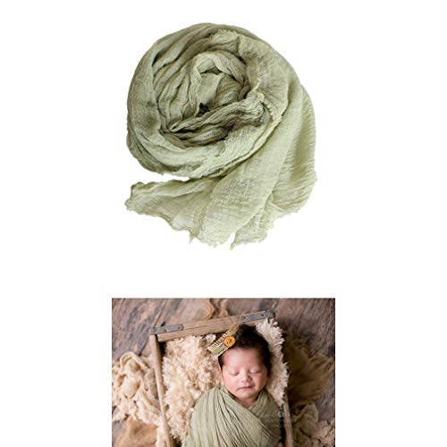 "AMOS and SAWYER Cheesecloth Wrap, Hand Dyed, 36""x72"" (Before Dying), Grade 50 Cheesecloth, Newborn Baby Layer Photography Prop (Sage Green)"