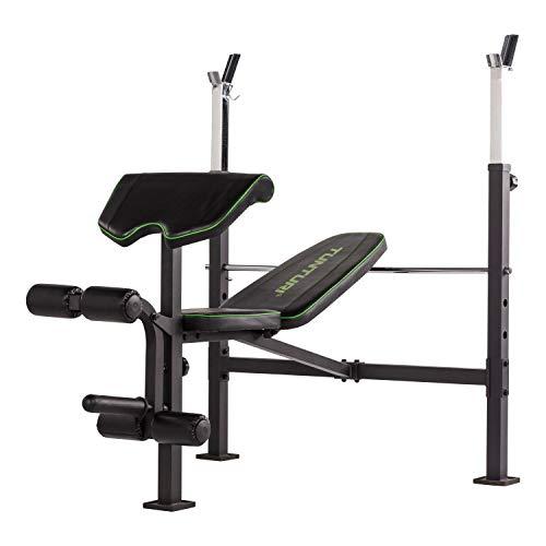 Tunturi WB60Olympic Width Weight Bench Banco de Pesas, Negro, 1