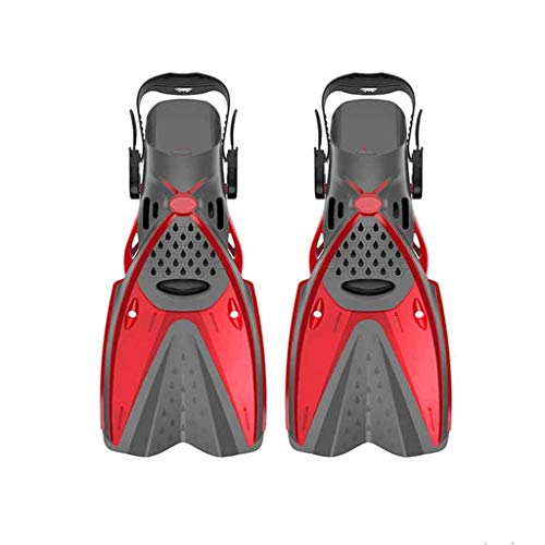 ZZABC YYJPHWYD New Scuba Diving Boots Silicone Water Swim Fins Adult Deep Diving Frog Shoes Flippers Snorkeling Supplies Diving Equipment (Color : Red, Size : Large-L/largeXL)