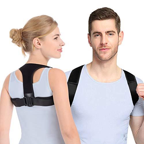 Anoopsyche Haltungskorrektur Rücken Herren Damen Entworfen von Deutschen Designer, Geradehalter zur Haltungskorrektur mit 2 Schulterpolster, für haltungsbedingte Nacken, Rücken und Schulterschmerzen L