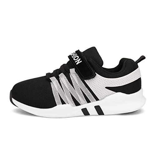 Chaussures de course de sport pour enfants printemps et automne confortable maille respirable non-slip chaussures de sport à fond plat chaussures de sport chaussures décontractées chaussures sauvages