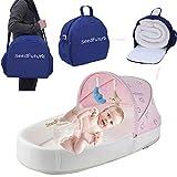 Baby Säugling Tragbar Stubenwagen Wiegen Nestchen Reisebett Babybetten Matratzen Bettwäsche Neugeborenes Mädchen Junge Geschenk (Pink)