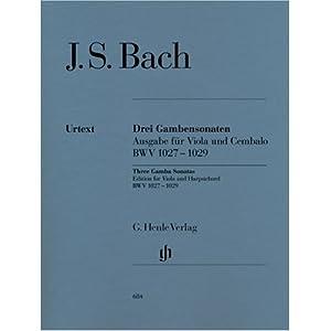 3 Sonaten Bwv 1027-1029 Vdg Cemb. Viola, Cembalo