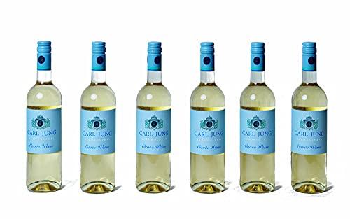 6x CARL JUNG SELECTION WEIß ALKOHOLFREI WEIßWEIN 0,75L DEUTSCHLAND Incl. Goodie von Flensburger Handel