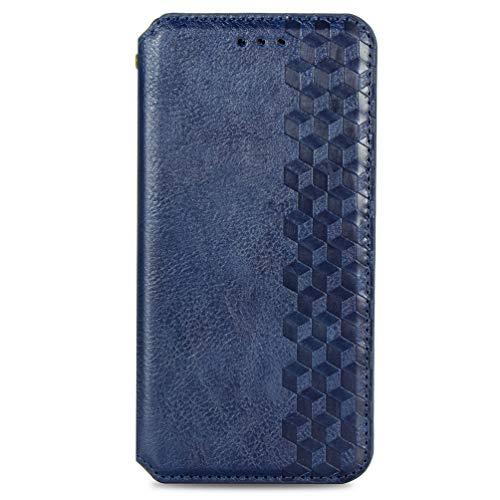 KERUN Hülle für vivo Y72 5G, Leder Flip Klappbar Lederhülle, TPU Folio Flip Wallet Cover Stand [Kartenslots] Schutzhülle Hülle für vivo Y72 5G. Blau