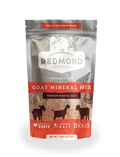 Redmond – Goat Mineral Supplement Mix, Unrefined Salt, 5 lbs