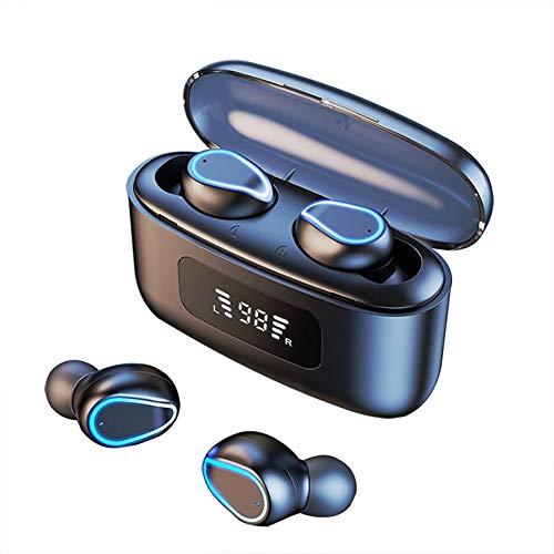 SHENXI Cuffie Bluetooth in Ear,Auricolari Bluetooth Senza Fili con Microfoni,Cuffie Senza Fili IPX7,9D HiFi Stereo, Cuffie Wireless 2200mAh per Samsung iPhone Huawei Xiaomi