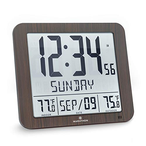 Marathon Slim Atomic Wall Clock with...