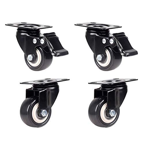 universalmente apto para muebles de hogar resistente al desgaste Ruedas giratorias con frenos rotaci/ón de 360 /° 50 mm 75 mm 125 mm para muebles 100 mm