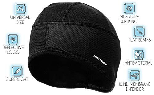 meteor Muts onder Fietshelm Skihelm - Rennende hoed - Beanie perfect voor heren dames jeugd kinderen - Unisex - One size - Force