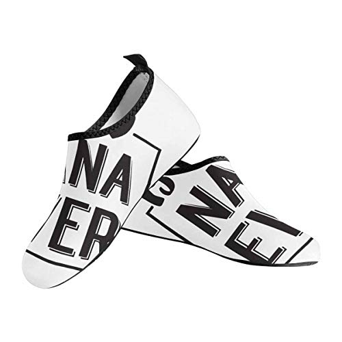 INTERESTPRINT Best Nana Ever in Black Brush Ink Lettering Womens Quick-Dry Barefoot Water Shoes Beach Pool Surf Swim Yoga Water Shoes US7.5~US8