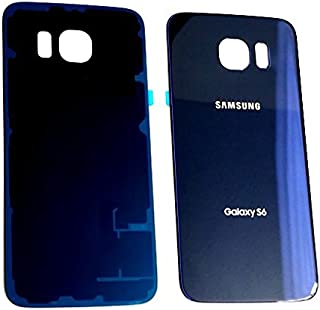 New OEM Battery Back Cover Glass Panel with Adhesive Preinstalled For Samsung Galaxy S6 G920A G920T G920P G920R G920V for All Carriers ~ Sapphire Black (No IMEI)