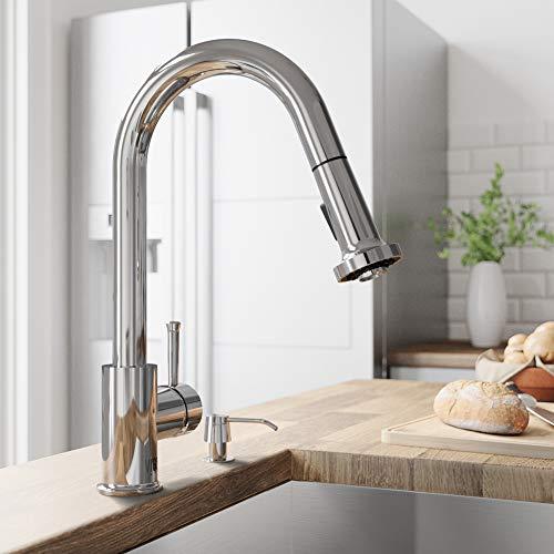 VIGO VG02002CH Harrison Commercial 15 Inch Single Handle Brass Kitchen Faucet