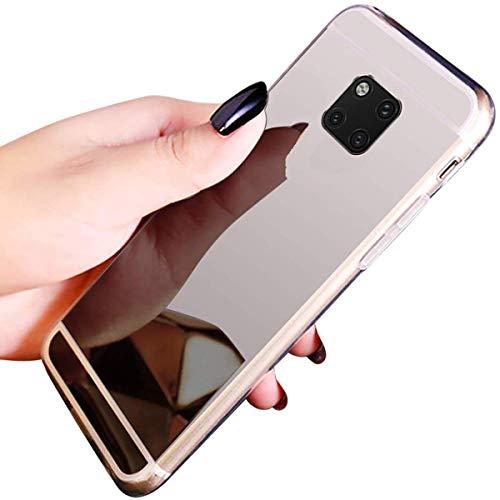 JAWSEU JBGMX002187-all Huawei Mate 20 Pro Case, TPU Phone Case Huawei Mate 20 Pro Spiegel Case spiegel, zilver