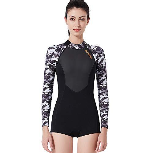 Buy-To wetsuit voor dames, surfpak, neopreenjas, 1,5 mm, voor zwemmen, duiken, duiken, weer, lange mouwen