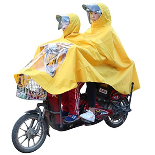 ZXL Regenjas Kinderen Ouder-Kind Regenkleding Dubbele Mensen Regenjas, Elektrische Fiets Auto Motorfiets Regenkleding Verhoog Dikke Poncho Regenpak Regenkleding (Kleur : B)