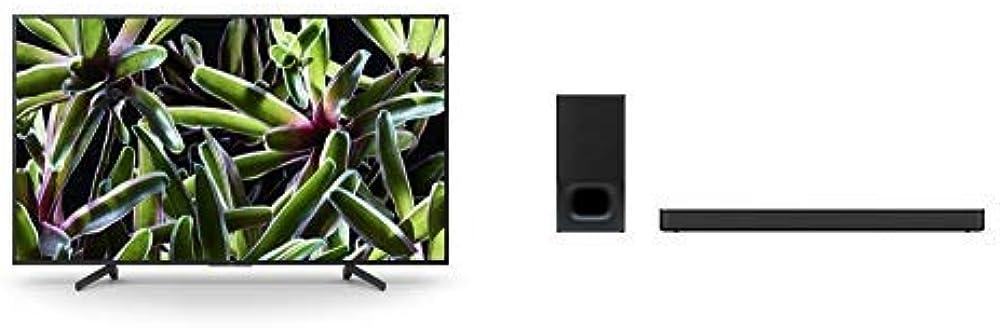 Sony televisore smart tv led da 43 pollici 4k hdr ultra hd soundbar con wireless subwoofer KD-43XG70