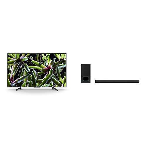 Sony KD-49XG70, Smart TV LED da 49 pollici 4K HDR Ultra HD, Nero + Sony HT-S350, 2.1ch Soundbar con wireless subwoofer