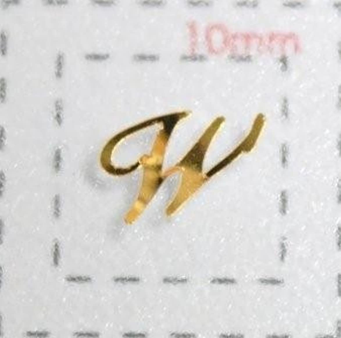 十代の若者たちまでスナックNameネイルシール【アルファベット?イニシャル】大文字ゴールド( W )1シート9枚入