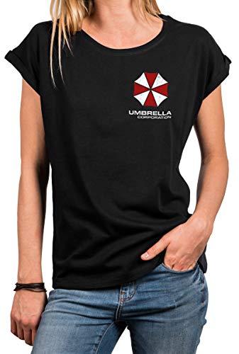 MAKAYA Top Verano Manga Corta para Mujer - Umbrella Corporation - Camiseta Resident Evil T-Shirt Chica XXXL