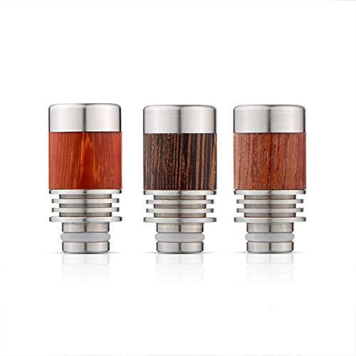 EzVapor 510 Drip Tip Rot Holz Mundstück Kühler Heat-Sink E-Zigarette Driptip 510er Drip Tip Verdampfer Atomizer Kühlung Maserung