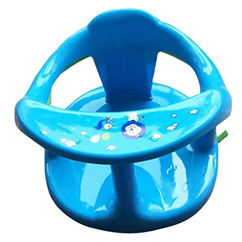 Bathing Tubs Seats Foldable Baby Bath Seat with Backrest Support and Suction Cups for Stability Baby Plastic Bathtub Seat Baby Bathtub Seat for Stability-Baby Bath Seat (Blue)