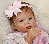 ZIYIUI Muñeca Reborn bebé Muñecos Silicona Chica Renacer Babies Baby Dolls Boca magnética Niños Juguetes 22 Pulgadas
