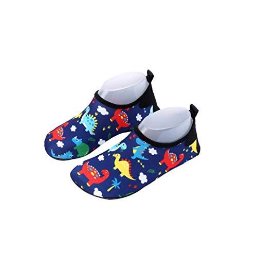 Zapatos 16.5cm del Agua del Cabrito Descalzo de natación Zapatos de la Historieta del Modelo del Dinosaurio Anti Slip Zapatos de Secado rápido Playa Zapatos Compatible con la Piel de la Playa de