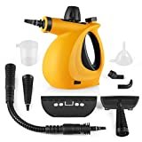 Dr. Purifier 1 Steam Cleaner, Car Portable Handheld Steamer with 9-Piece Accessories Chemical-Free Cleaning for Home Use, Orange