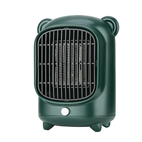 Calentador de espacio pequeño,seguro y silencioso con 2 modos de calefacción, calentador de espacio de cerámica PTC eléctrico portátil seguro de 500 W,para dormitorio,oficina,baño y uso en interiore