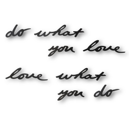 Umbra - Palabras para pared do what you love, color negro