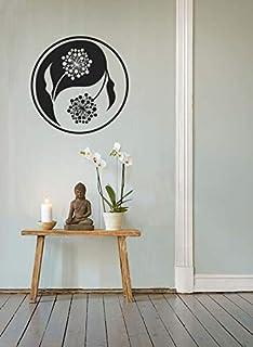 يين يانغ جدار جدارية / الجدار ملصق الصينية الروحية الفينيل ديكور المنزل الأسود تريبي