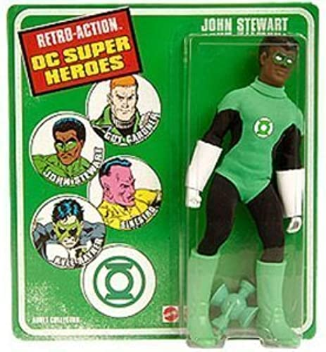 DC Universe Worlds Greatest Super Heroes Retro Series Exclusive Action Figure John Stewart by Mattel (English Manual)