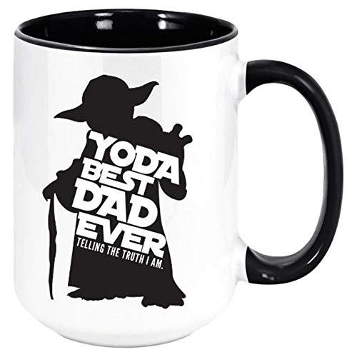 Yoda Best Dad Ever Coffee Mug - Funny Unique Gift Mugs for Him,...