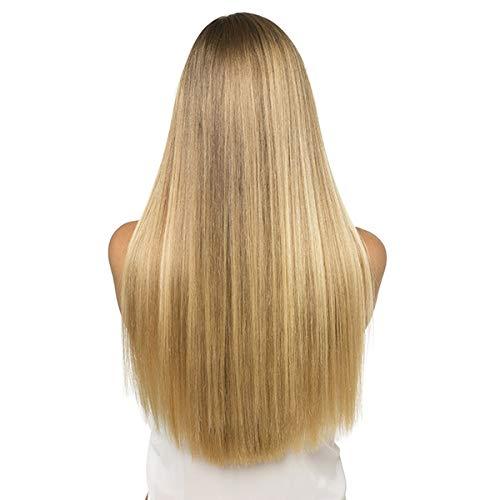 SANGRA HAIR Extensiones de queratina de cabello natural – 10 unidades 50 cm de largo 8 gramos - Pelo 100% natural remy (Castaño claro (8))