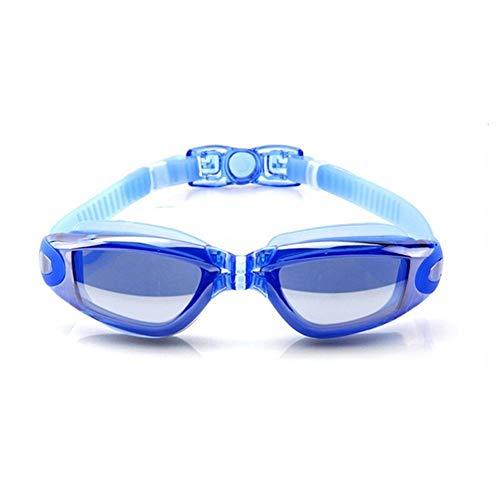 MOUNTAIN MEN 2pcs Impermeable contra la Niebla del Traje de baño de galvanoplastia Gafas UV Swim Inmersiones en Aguas Gafas Gafas Gafas de Natación Ajustable Hombres Mujeres (Color : Blue)