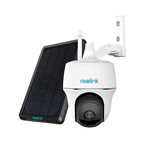 Reolink Argus PT 1080P HD Wireless Outdoor Camera with Pan & Tilt, Rechargeable or Solar Powered Battery, Built-in SD Card Slot, Starlight Night Vision (Solar Panel Included)