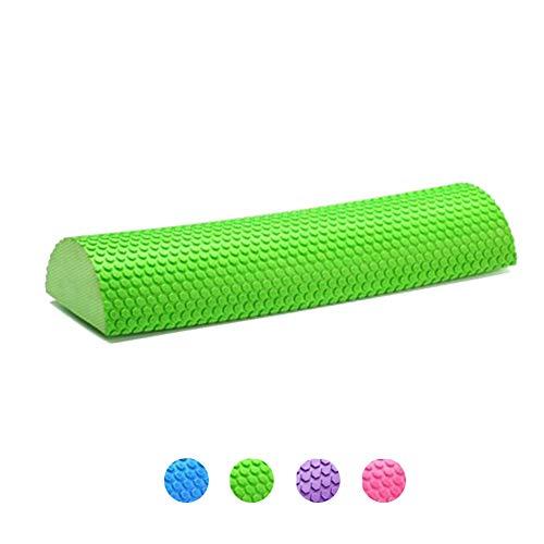 Faszienrolle Wirbelsäule Massagerolle,Halb Runde Yoga Foam Roller Gymnastikrolle zur Triggerpunkt Pilatesrolle Rückenrolle zur Selbstmassage Schaumstoffrolle Für Balance-Trainingsgeräte,Green,90cm