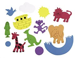 Darice Bucket of Noah's Ark Foamies Stickers