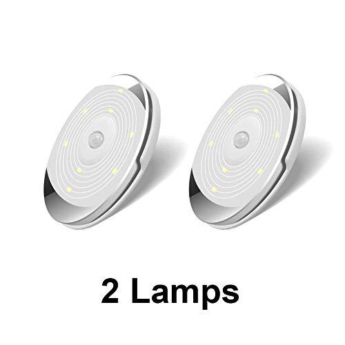 Led-Nachtverlichting Met Zelfklevende Sticker Draadloze Pir-Bewegingssensor Led-Batterij Garderobekast/Kast Pucklicht Onder Kastverlichting