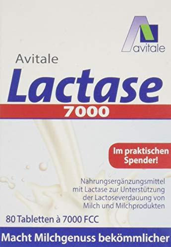 Avitale Lactase 7000 FCC, 80 Tabletten im Spender, 1er Pack (1 x 80 Stück)