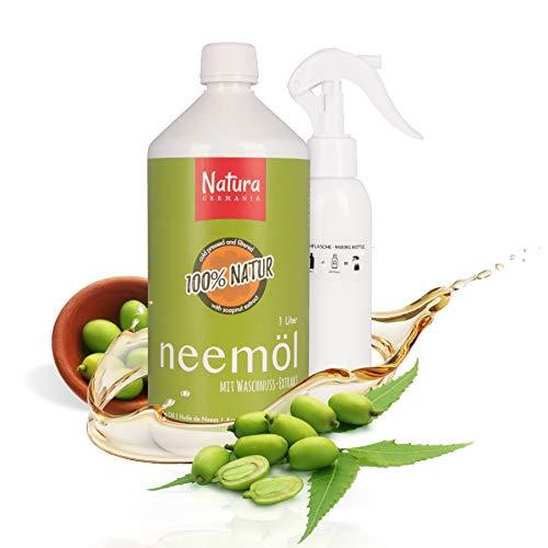 Natura Germania® Neemöl (Niemöl) mit Emulgator 1L - fertig gemischt - inklusive Mischflasche