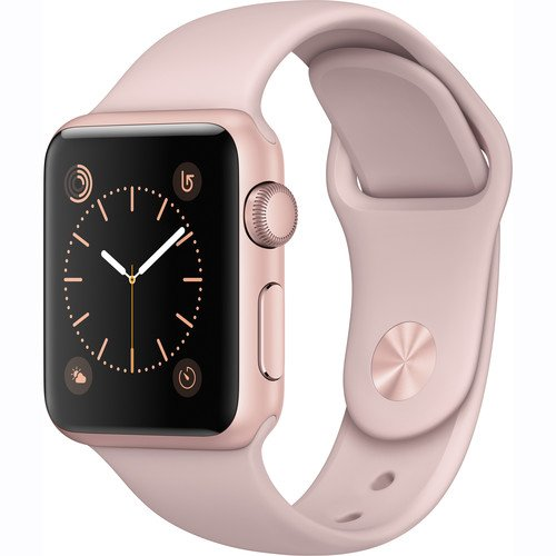 Apple Watch Series 1 Smartwatch 38mm Rose Gold Aluminum Case, Pink Sand Sport Band (