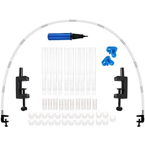 Kit de arco de globo, tamaño de ajuste libre, juego de arco de globo de mesa blanco, kit de arco de globo de mesa para cumpleaños, bodas, baby shower, decoraciones de graduación