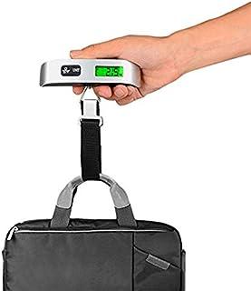 maniry 携帯式デジタル 吊りはかり ミニ吊り下げスケール スーツケース 荷物秤 はかり 【最大50kgまで量れる / ステンレス仕上げ/LCD液晶ディスプレイ/温度計機能付】便利 軽量 家庭用