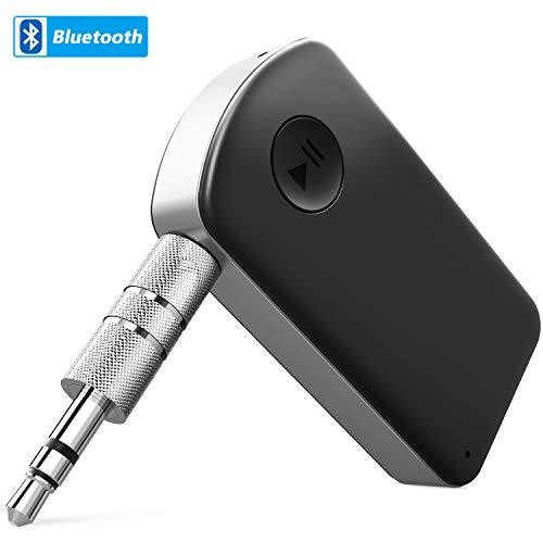 Receptor Bluetooth, TedGem Bluetooth para Coche Receptor Bluetooth Jack Receptor Bluetooth Coche con Salida Estéreo Auxiliar de 3.5 mm Micrófono Incorporado para Sistema de Sonido Audio y Música