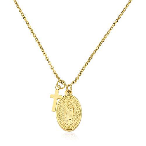 Good.Designs ® Halskette für Frauen | Damen Kette Gold Goldene Golden Goldkette goldfarben Damenhalskette Damenkette Damenschmuck