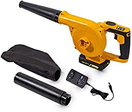 SPLOTY Leaf Blower Cordless with Battery and Charger, DC 20V 2.0Ah Lithium Ion Best Cordless Leaf Blower, 145 MPH (Max) Electric Leaf Blower Cordless, Foldable 7 Gear Speed Cordless Leaf Blower Vacuum