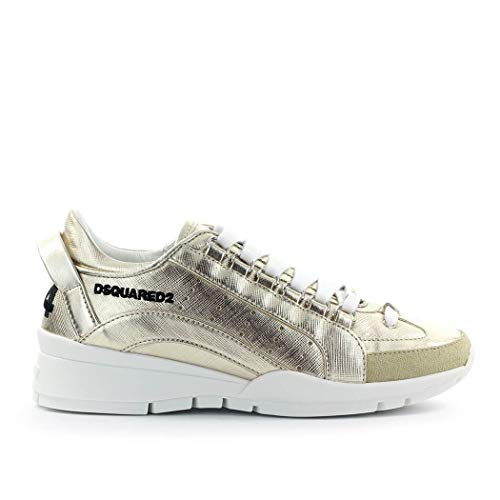 DSQUARED2 Luxury Fashion Damen SNW0505133030352136 Gold Leder Sneakers | Herbst Winter 20