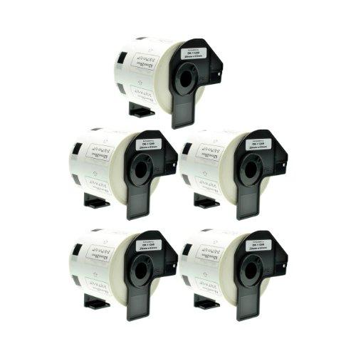 Logic-Seek 5X Adress-Etiketten 29mm x 62mm kompatibel für Brother DK11209 - je 800 Stück P-Touch QL-1050 1060N 500 550 560 570 580 700 500 A BS BW 560 VP YX 580N 650TD 710W 720NW